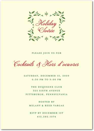Berry Garland - Holiday Party Invitations
