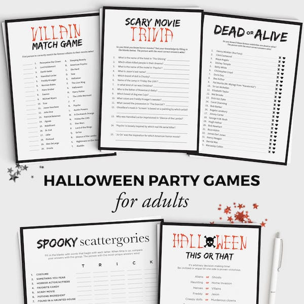 Big Kids & Adult Halloween Party Games