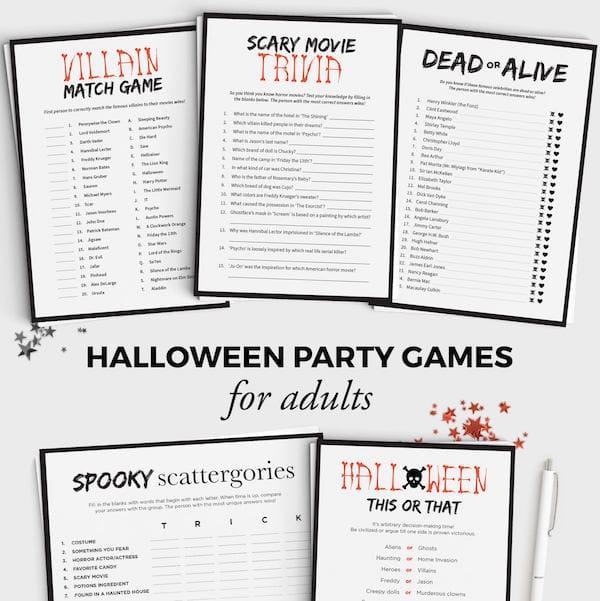 photo relating to Printable Halloween Trivia identify Printable Halloween Video games Halloween Bash Functions