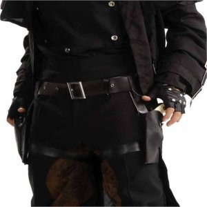 Captain America Nick Fury Costume | Black Costume Gun Holster