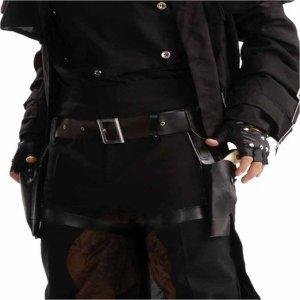 Captain America Nick Fury Costume | Black Costume Gun Holster