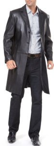 Captain America Nick Fury Costume | Black Leather Trench Coat