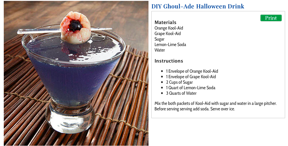 DIY Ghoul-Ade Halloween Drink Recipe