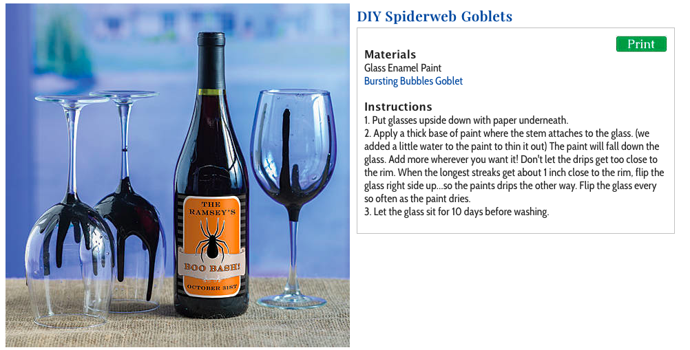 DIY Painted Spiderweb Goblets