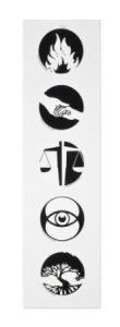 Divergent Movie Faction Symbols Temporary Tattoo Set
