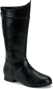Dracula Untold Costume | Black Super Hero Boots