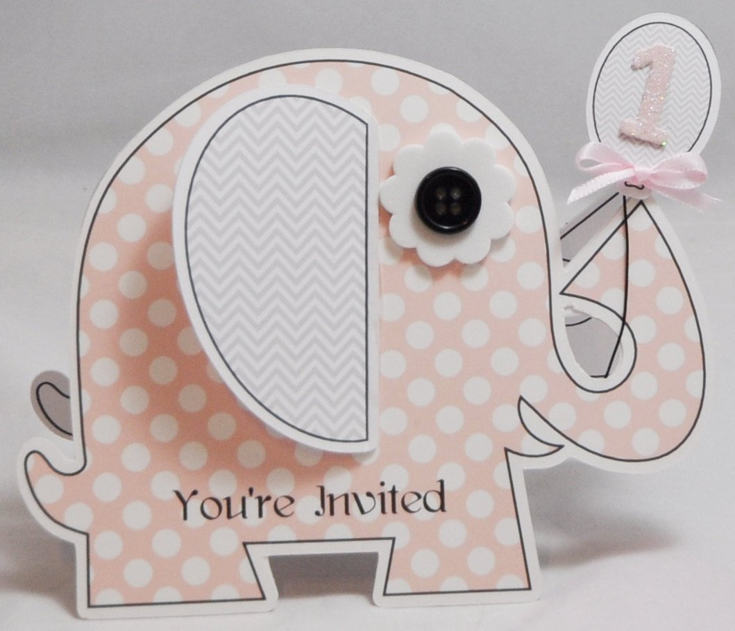 Elephant Shaped Invitations
