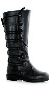 Black Costume Renaissance Boot