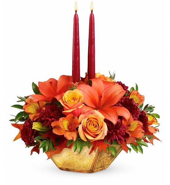 Thanksgiving floral centerpieces holiday flowers party
