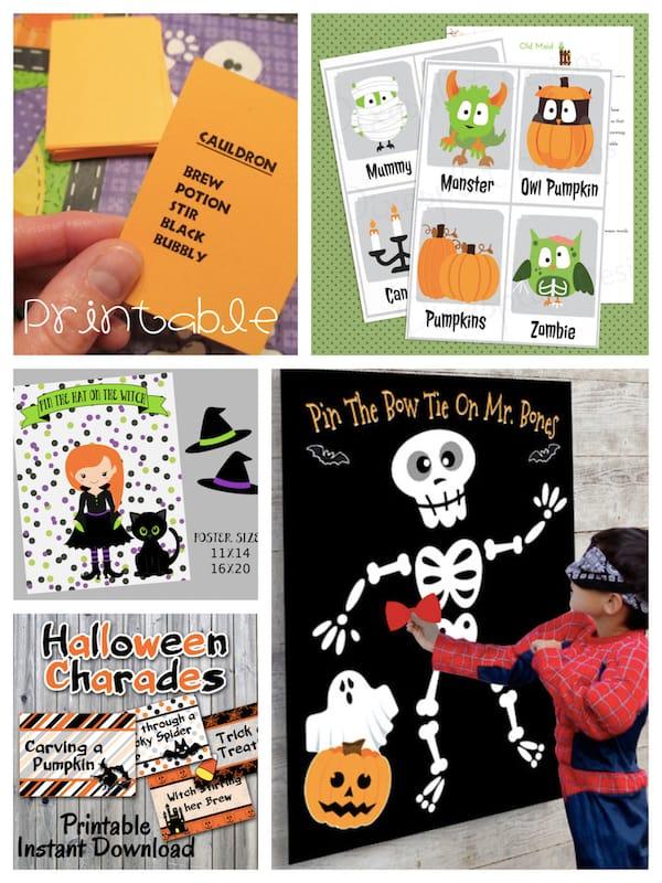 Printable Halloween Games Halloween Party Activities