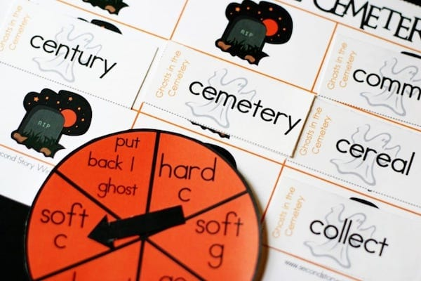 Ghosts in the Cemetery Printable Halloween Classroom Games