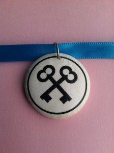 Grand Budapest Hotel Costume | Agatha Society of Crossed Keys Necklace