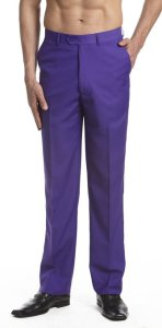 Grand Budapest Hotel Costume | Purple Men's Dress Pants Trousers
