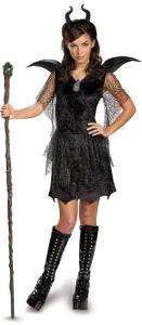 Maleficent Deluxe Black Tween:Teen Gown and Headpiece