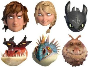 Official How to Train Your Dragon 2 Face Masks