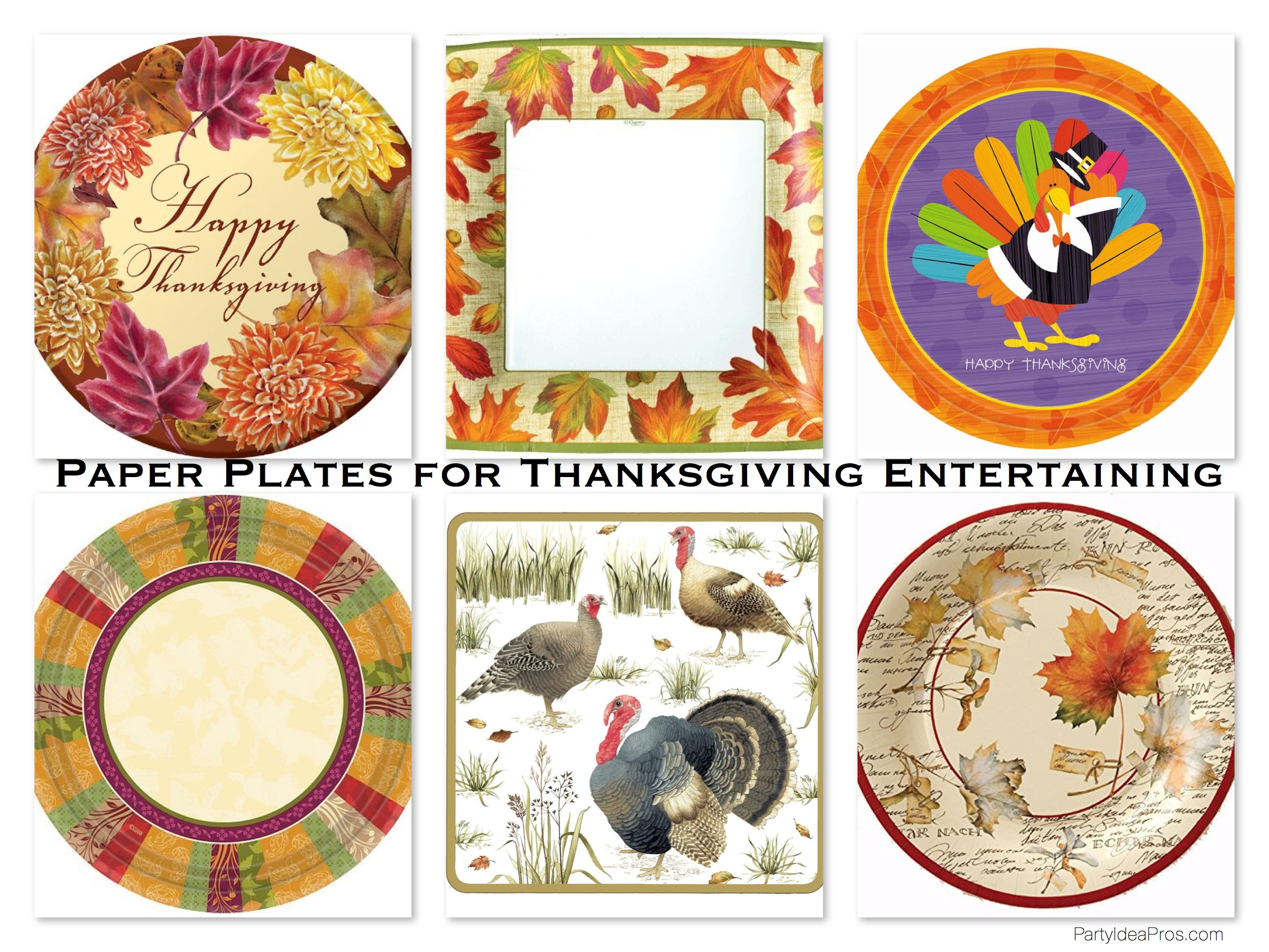 Paper Plates for Thanksgiving Entertaining