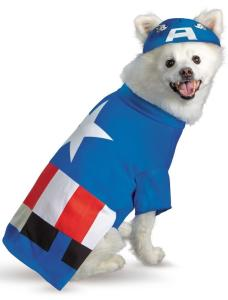 Pet Captain America Costume