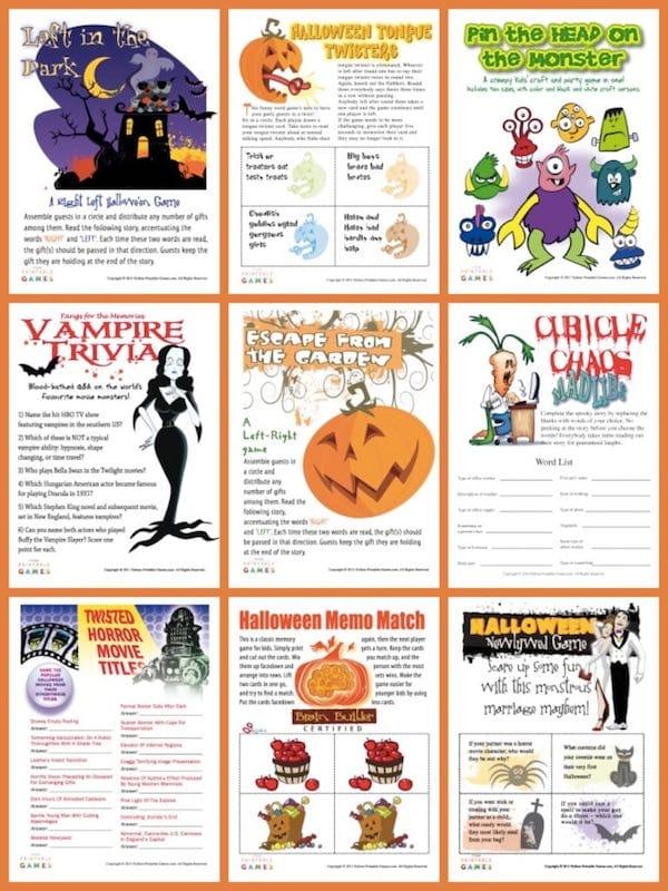 Printable Halloween Games