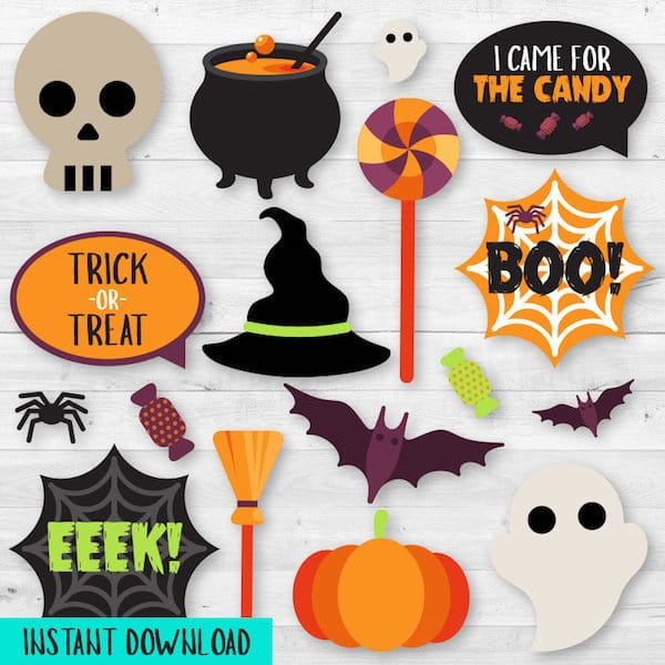Printable Halloween Photo Prop Instant Download