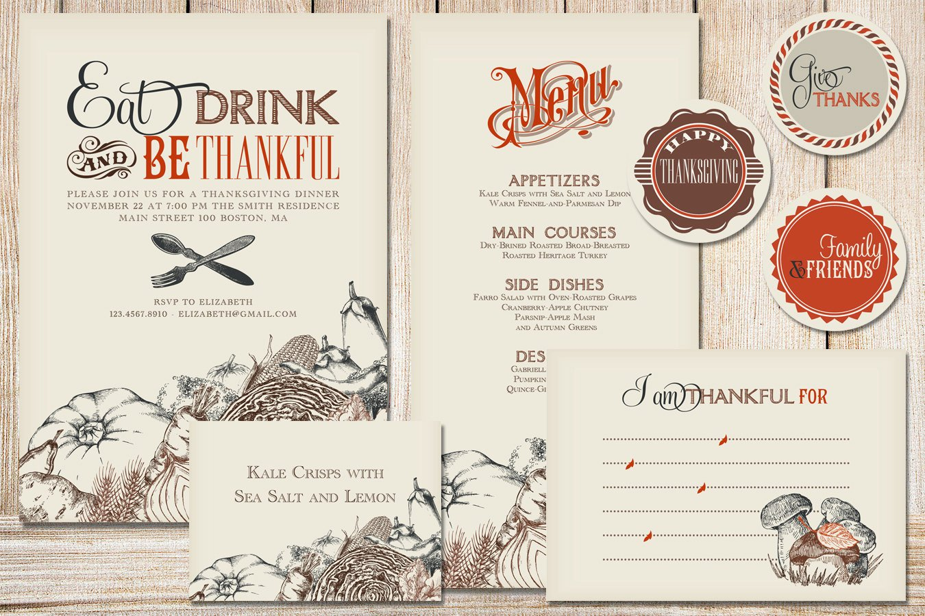 Printable Thanksgiving Party Pack