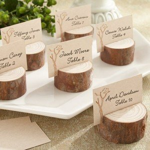 Rustic Real Wood Place Card