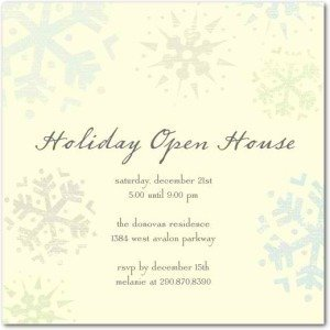 Sparkling Snowflakes - Holiday Party Invitations