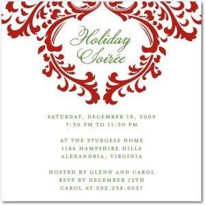 Stylish Soirée - Holiday Party Invitations