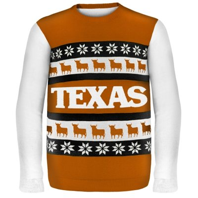 Texas Longhorns Wordmark Ugly Sweater