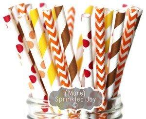 Thanksgiving Paper Straws