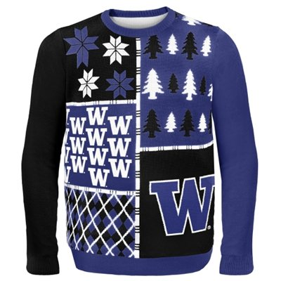 Washington Huskies Busy Block Ugly Sweater