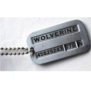 Wolverine Costume Dog Tag