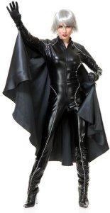 X-Men Storm Costume | Black Spandex Jumpsuit and Cape