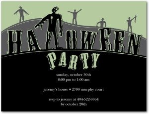 Zombies Arise Halloween Party Invitation