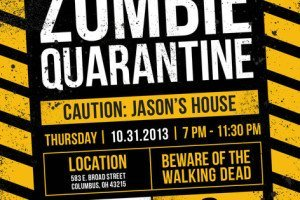 Zombie Quarantine Halloween Party Invitation