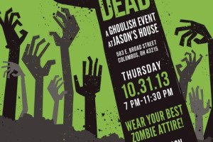 night of the living dead halloween party invitations