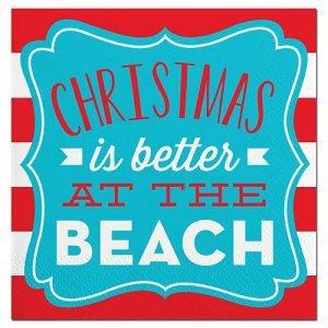 Beach Christmas Beverage Napkin