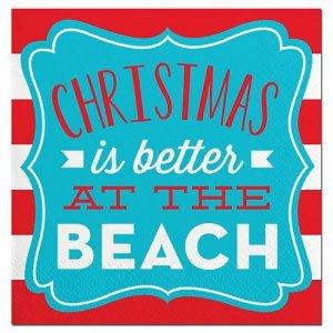 Beach Christmas Beverage Napkin