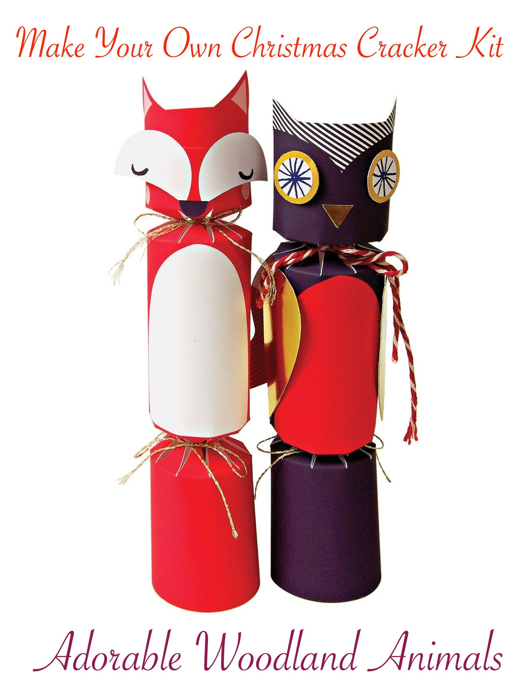 DIY Woodland Animals Christmas Cracker Kit