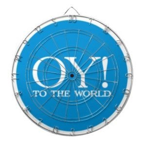 Dartboard - OY TO THE WORLD! Hanukkah Fun