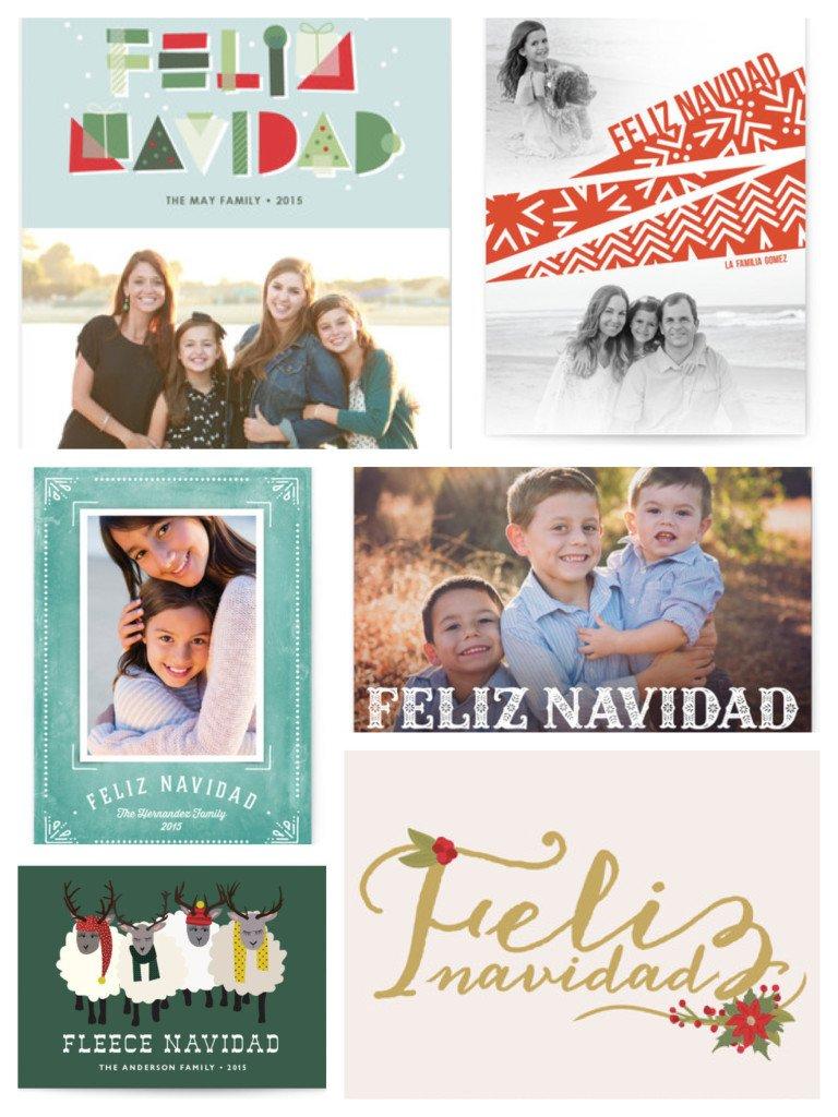 Feliz Naavidad Christmas Cards
