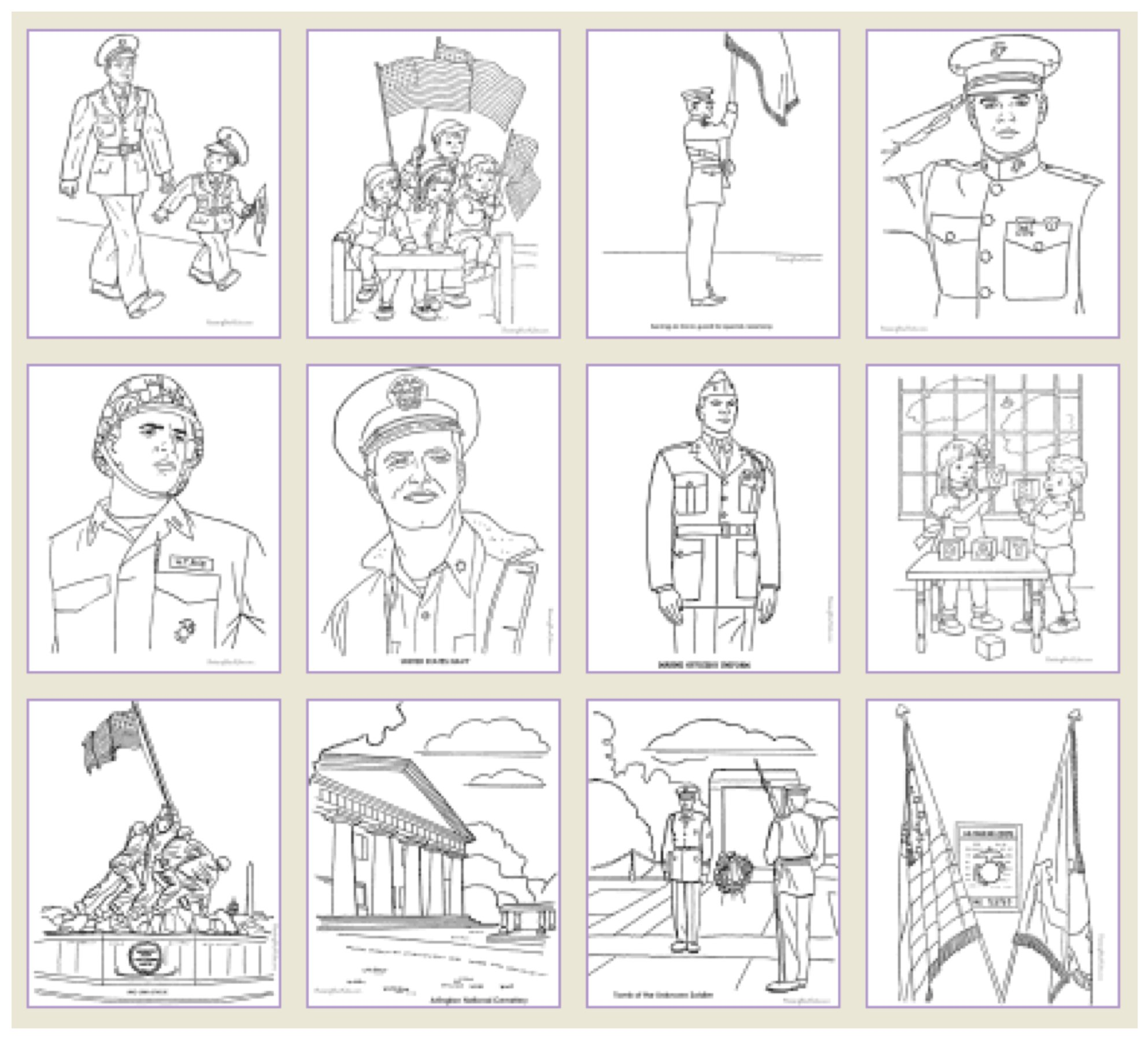 Free Printable Veterans Day Coloring Pages, Veterans Day Printable Games