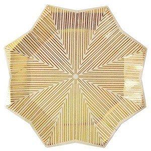 Gold Foil Patterned Star Plates