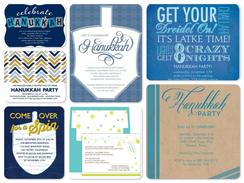 Hanukkah Party Invitatons