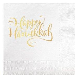 Happy Hanukkah Beverage Napkins