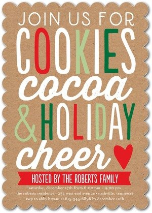 Holiday Party Invitations - Holiday Goodies