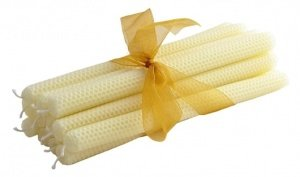 Rolled Beeswax Tapers