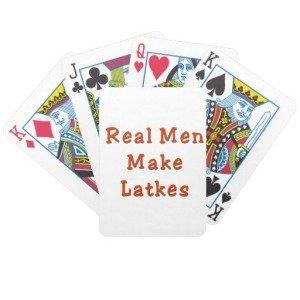 Real Men Make Latkes Hanukkah Themed Playing Cards