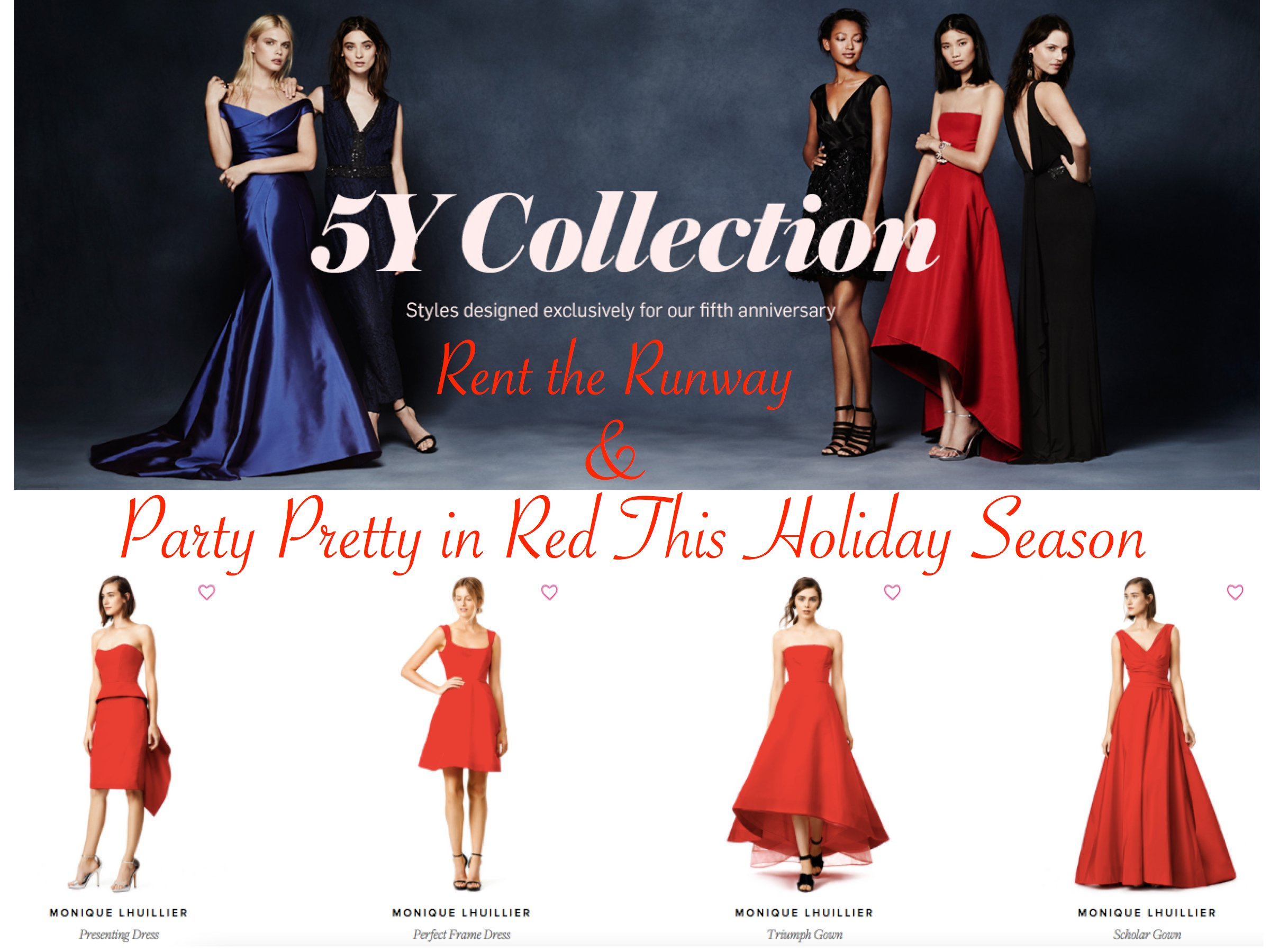 Rent The Runway Party Pretty in Christmas Red, Rent the Runway's 5Y Collection