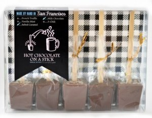 Salted Caramel And French Dark Truffle Hot Chocolate Stick Tasting Pack