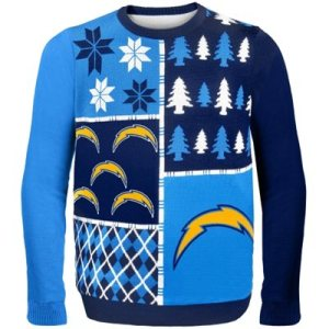 San Diego Chargers Busy Block Ugly Sweater